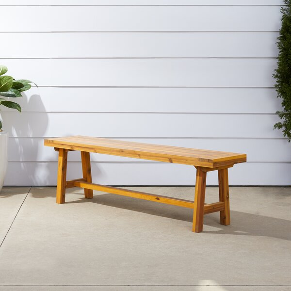 Macedonia Patio Dining Wooden Picnic Bench by Millwood Pines Millwood Pines