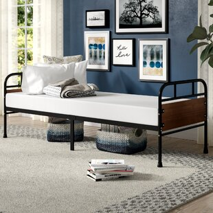 Townsel Narrow Frame Day Bed with Foam Mattress Latitude Run