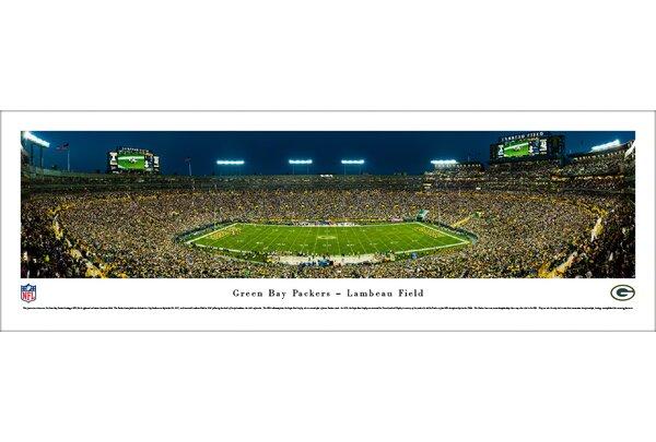 NFL Green Bay Packers 50 Yard Night Photographic Print by Blakeway Worldwide Panoramas, Inc