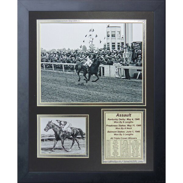 Assault - 1946 Triple Crown Winner Framed Memorabilia by Legends Never Die