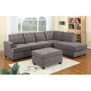 Darianna Leather Reversible Sectional