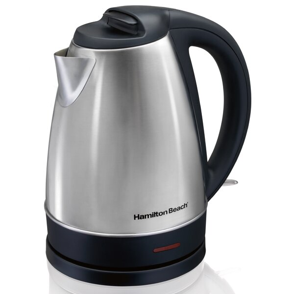 1.7 Quarts Stainless Steel Electric Kettle by Hamilton Beach