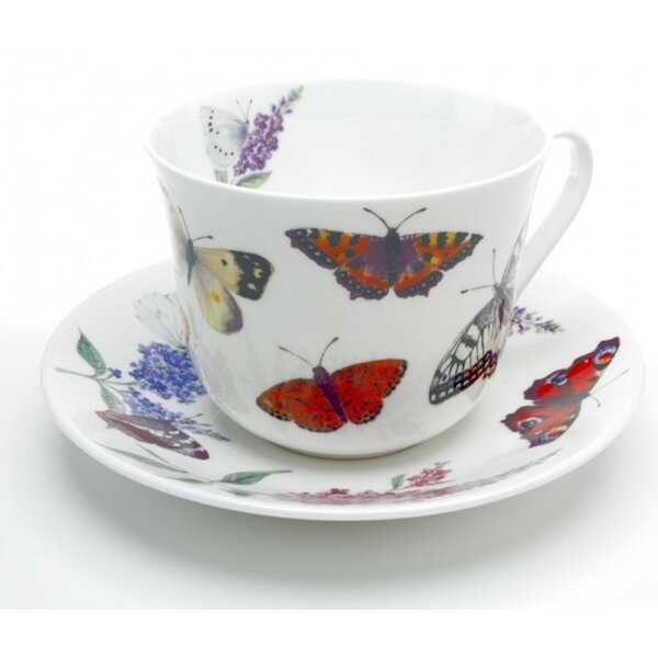 Roy Kirkham Breakfast Cup and Saucer Set by Heim Concept