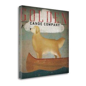 'Golden Dog Canoe Co' Graphic Art Print on Canvas by Tangletown Fine Art