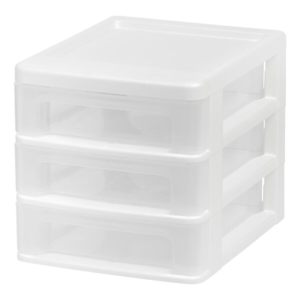 Compact Desktop 3 Drawer System (Set of 4) by IRIS USA, Inc.