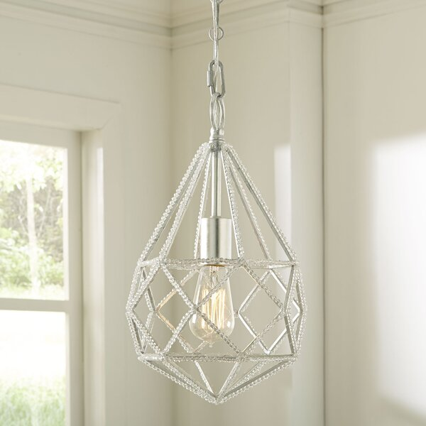 Diamond Cut 1-Light Geometric Pendant by Birch Lan