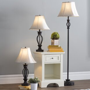 Gambier 3 Piece Table and Floor Lamp Set by Three Posts