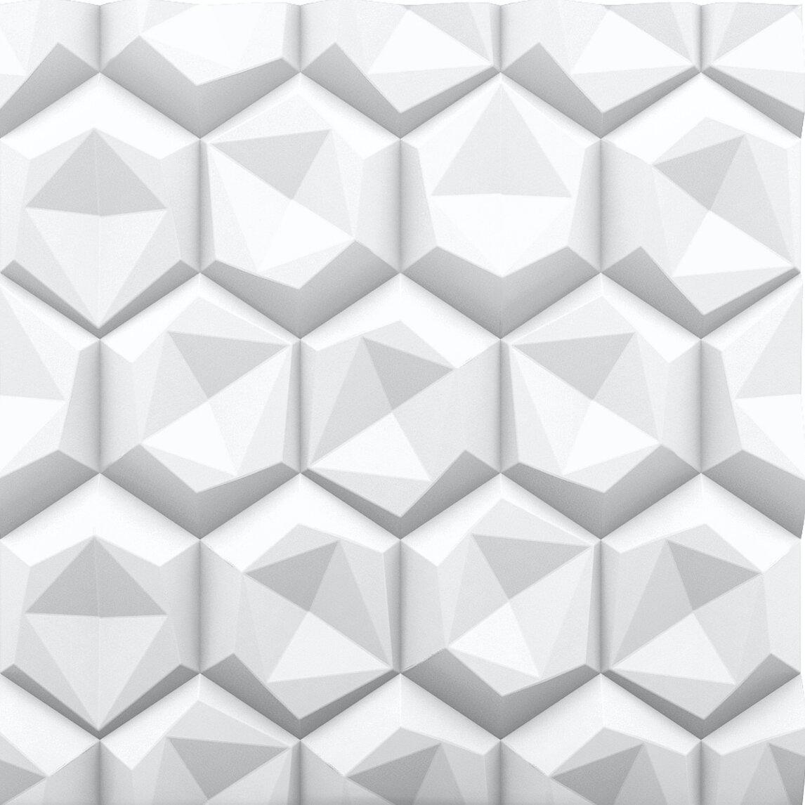 Decorative PVC Cladding Panels Silver Impressions Wall Cladding Panel Sample
