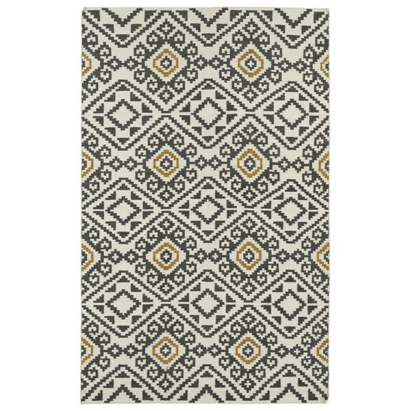 Marble Falls Charcoal Geometric Area Rug by Wrought Studio