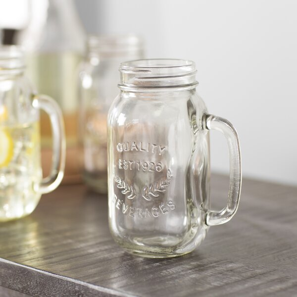 Corneau 22 oz. Mason Jar Mug (Set of 6) by Laurel Foundry Modern Farmhouse