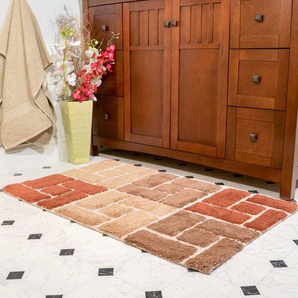 Berkeley Rectangle 100% Cotton Geometric piece Bath Rug Set