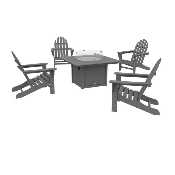 Polywood® Traditional 5 Piece Multiple Chair Seating Group by Sol 72 Outdoor