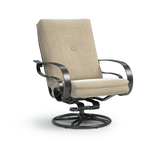 Bradninch Swivel Patio Chair with Sunbrella Cushion by Fleur De Lis Living