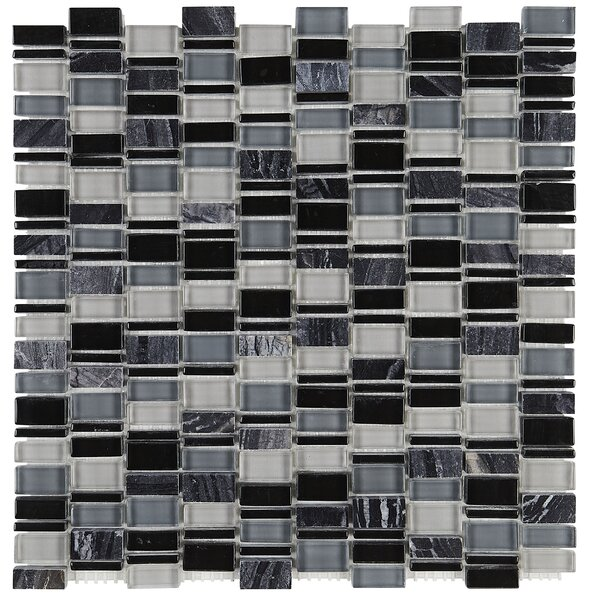Clio Random Sized Glass Mosaic Tile in Boreas by Daltile