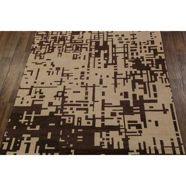 One-of-a-Kind Gauna Contemporary Earth-tone Moroccan Gabbeh Oriental Red/Burgundy Area Rug by Isabelline