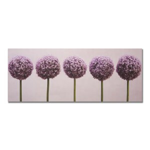 'Row Of Alliums' Photographic Print on Wrapped Canvas by Alcott Hill