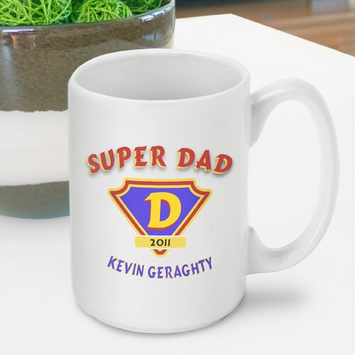 Personalized Gift Super Dad Mug by JDS Personalized Gifts