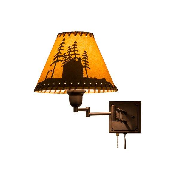 Greenbriar Oak Swing Arm Lamp by Meyda Tiffany