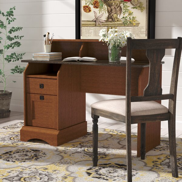 Barker Secretary Desk with Hutch by Charlton Home