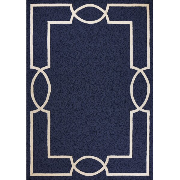 Hamptons Madison Hand-Hooked Ocean Indoor/Outdoor Area Rug by Libby Langdon