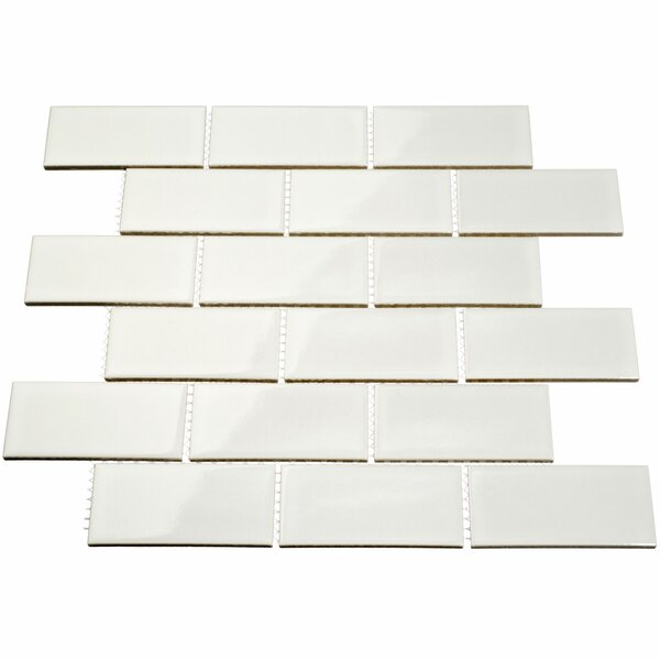 2 x 4 Porcelain Subway Tile in White by Giorbello