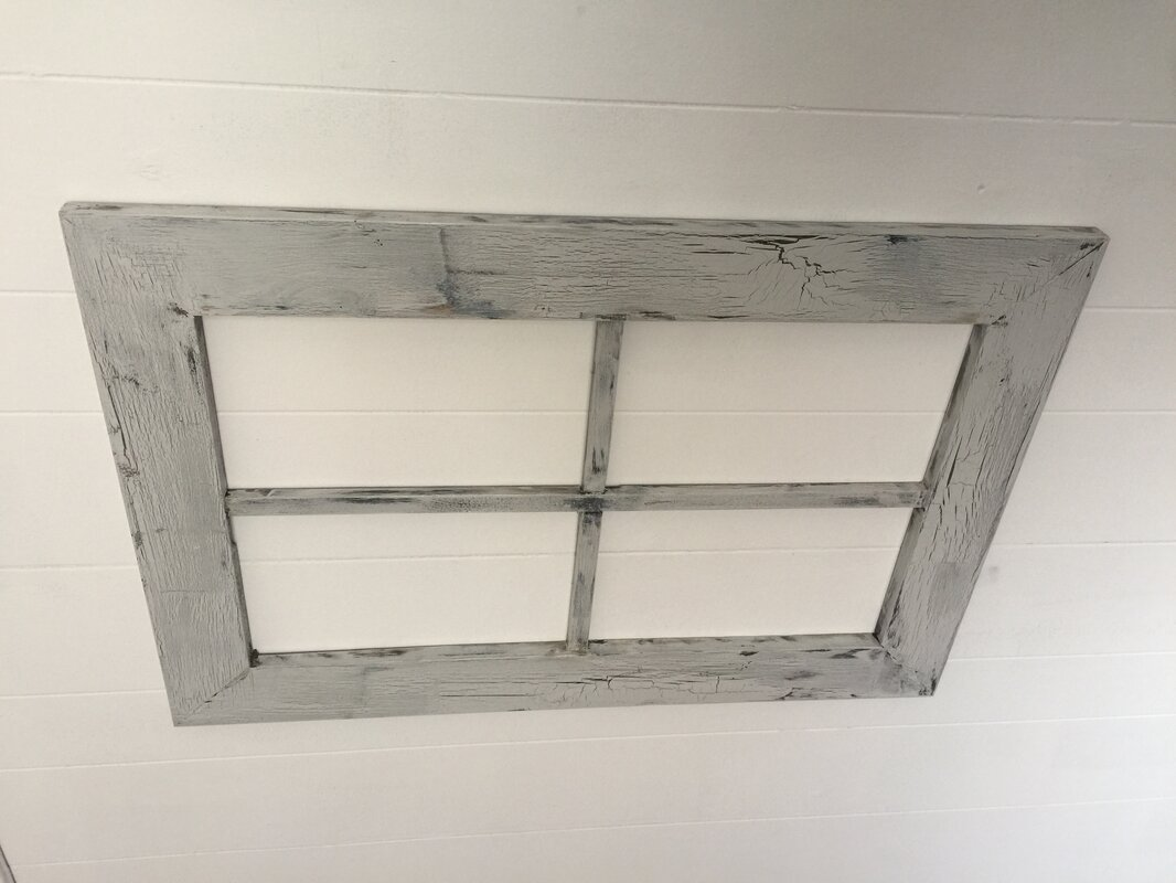 rustic wood window frame wall dcor - Window Frame Wall Decor