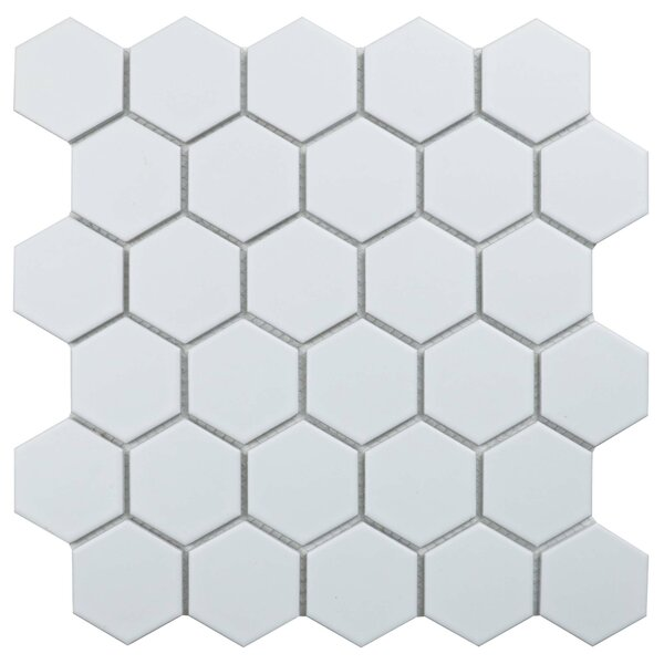 Value Series 2'' x 2'' Porcelain Mosaic Tile in Matte White by WS Tiles