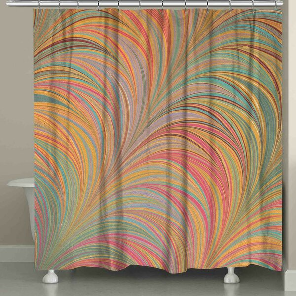 Hartzler Marble Shower Curtain by Ebern Designs