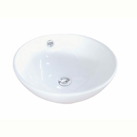 Perfection Ceramic Circular Vessel Bathroom Sink with Overflow by Elements of Design