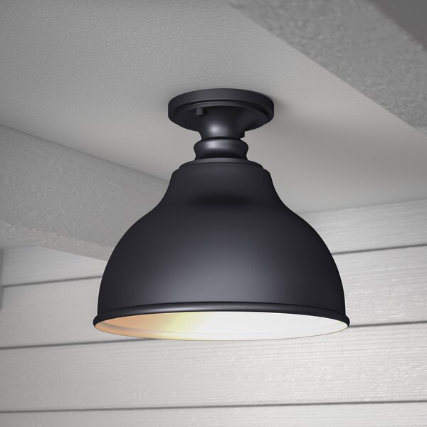 Lavardin 1-Light Outdoor Semi Flush Mount by Laurel Foundry Modern Farmhouse