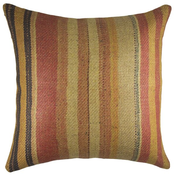 Nomad Burlap Throw Pillow by TheWatsonShop