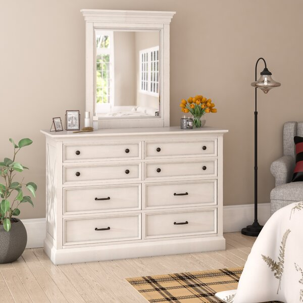Moravia 8 Drawer Double Dresser With Mirror By Laurel Foundry Modern Farmhouse Best #1