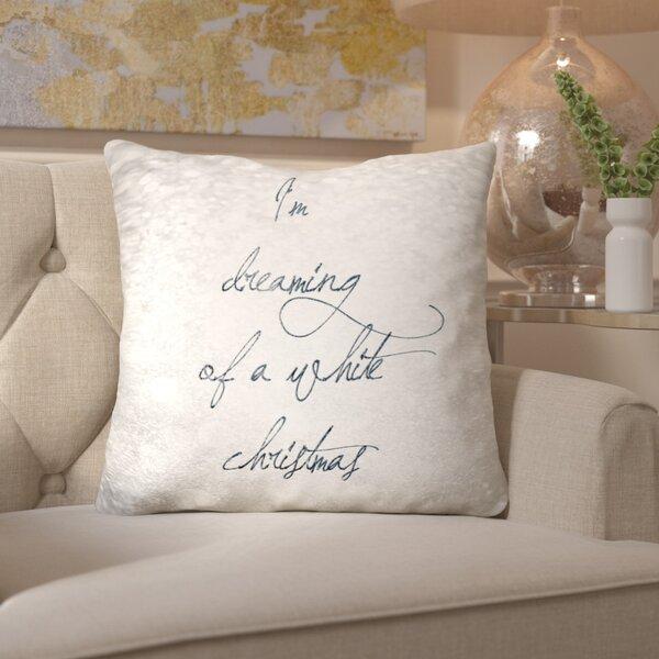 White Christmas Throw Pillow by Mercer41
