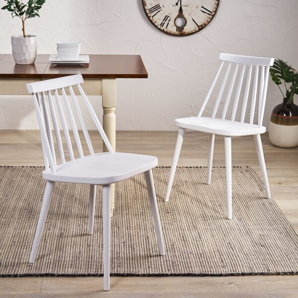 Osblek Farmhouse Spindle-Back Dining Chair (Set of 2) by Gracie Oaks
