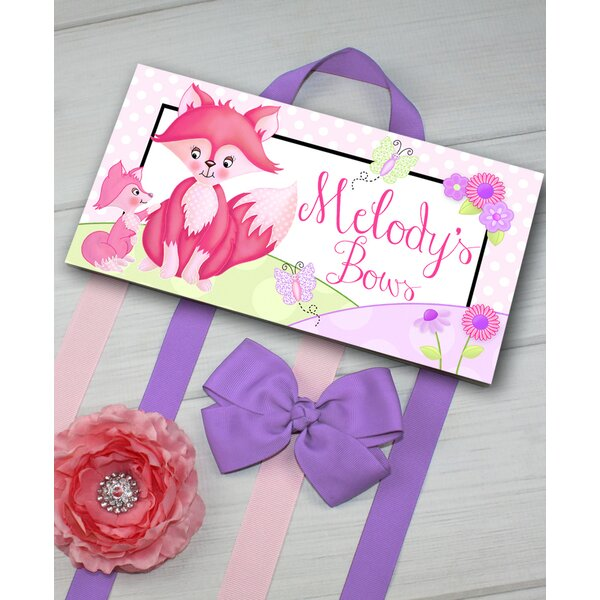 Sweet Foxes Personalized Hair Bow Holder by Toad and Lily
