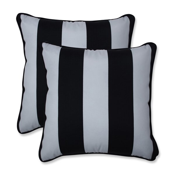 Cordon Indoor/Outdoor Striped Throw Pillow (Set of 2)