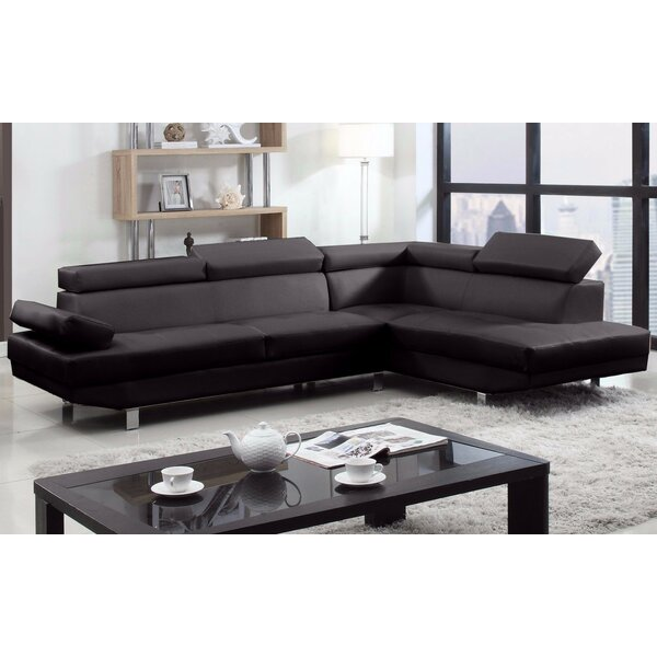 Dashing Style Truluck Right Hand Facing Large Sectional by Orren Ellis by Orren Ellis