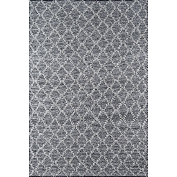 Elissa Hand-Woven Charcoal Area Rug by Gracie Oaks