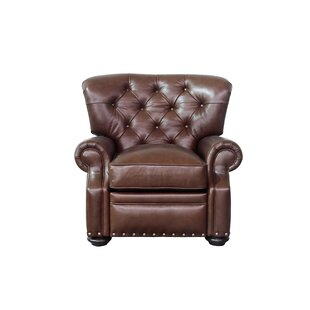 Ty Leather Manual Recliner Canora Grey