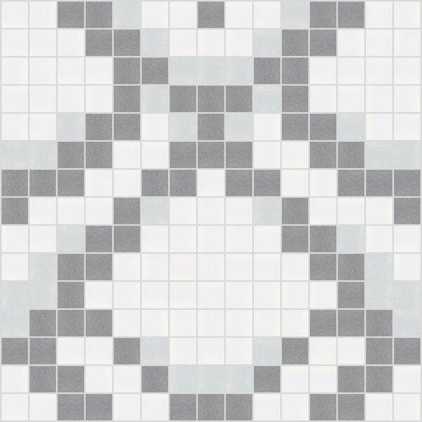 Urban Essentials Subtle Scales 3/4 x 3/4 Glass Glossy Mosaic in Calm Grey by Mosaic Loft