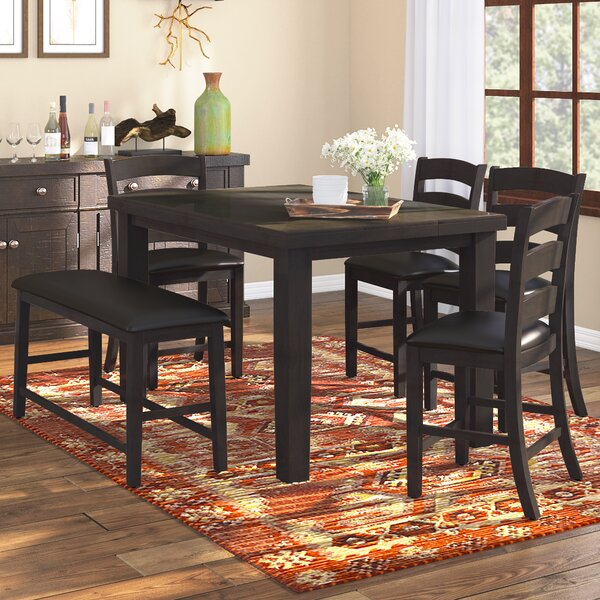 Bodie 6 Piece Counter Height Dining Set by Loon Peak