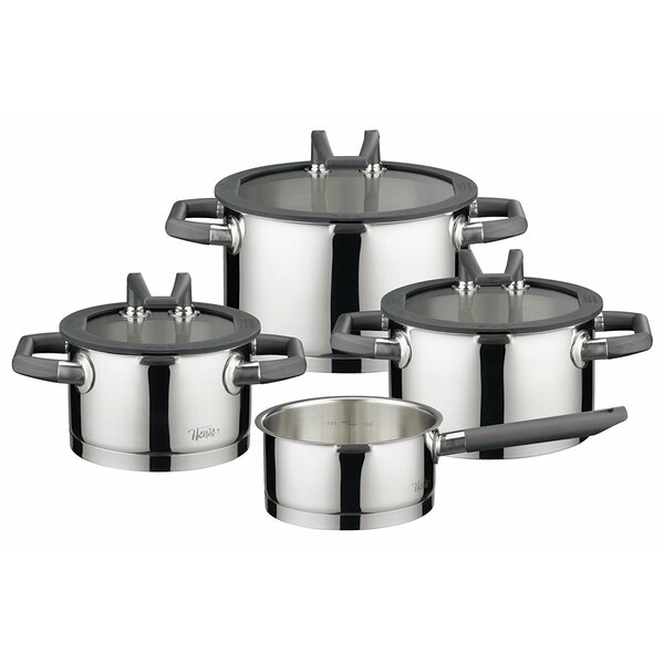 Premium 7 Piece Pearl Stainless Steel Induction Cookware Set by Westmark
