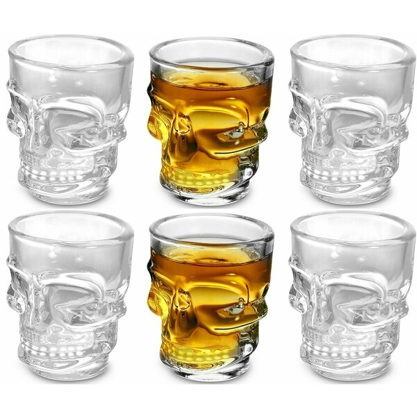 Lasher Skull 1.5 oz. Shot Glass (Set of 6) by Winston Porter