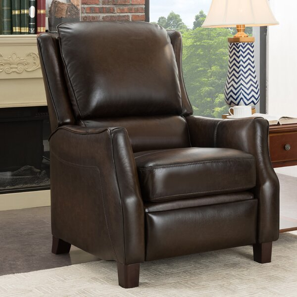 Yeates Premium Leather Manual Recliner [Red Barrel Studio]
