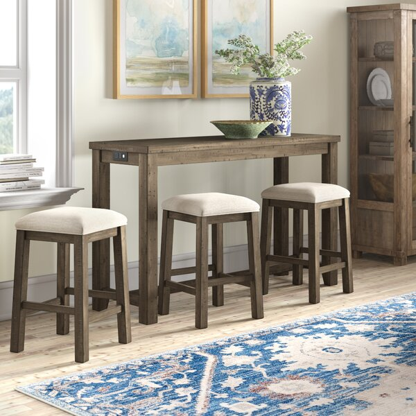 Kenworthy Multipurpose 4 Piece Pub Table Set by Three Posts