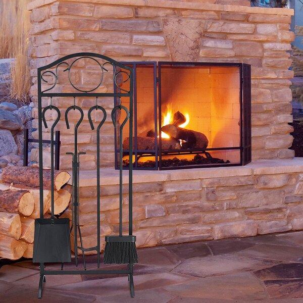 Decor Holder 5 Piece Steel Fireplace Tool Set By Boyel Living