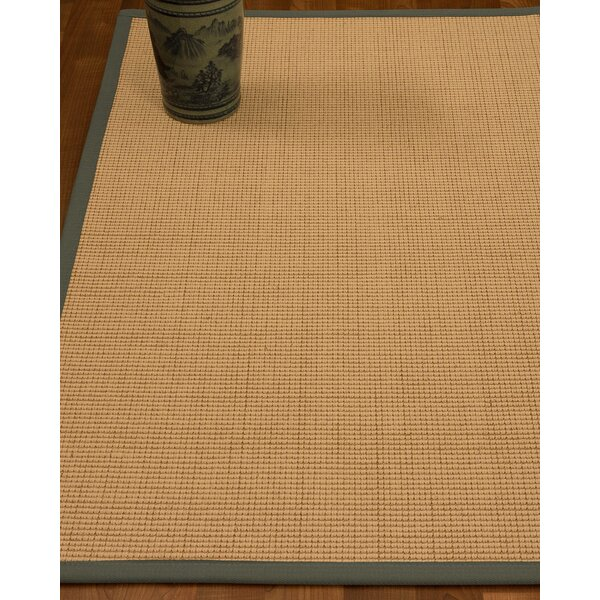 Chaves Border Hand-Woven Wool Beige/Stone Area Rug by Rosecliff Heights