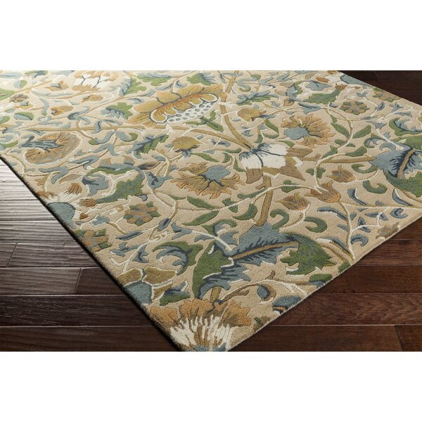 Chapp Hand-Tufted Yellow/Blue Area Rug by Astoria Grand