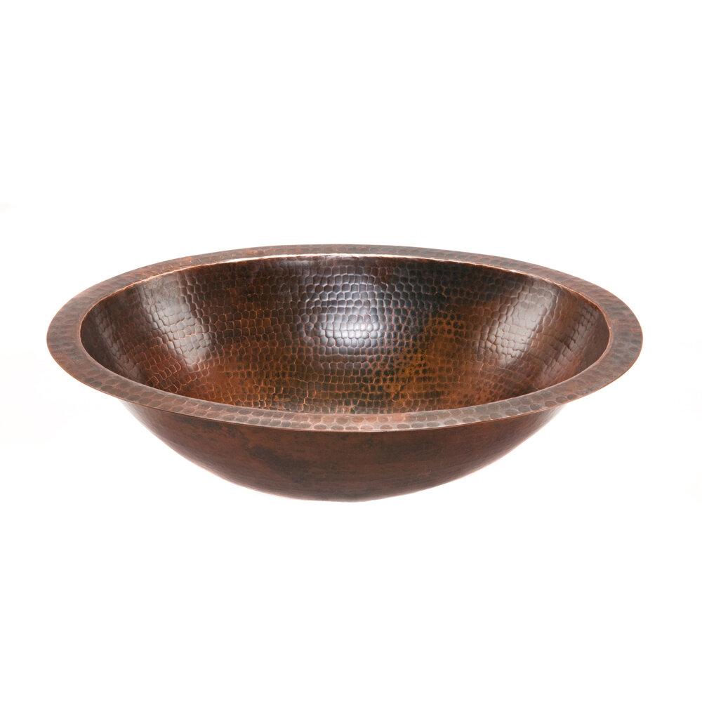 Premier Copper Products Metal Oval Undermount Bathroom Sink U0026 Reviews |  Wayfair