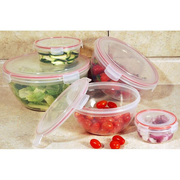 Lock and Seal 5 Container Food Storage Set by Rebrilliant